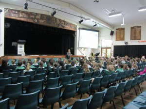Max & George on the big screens at Clayfield College 20 June 2013