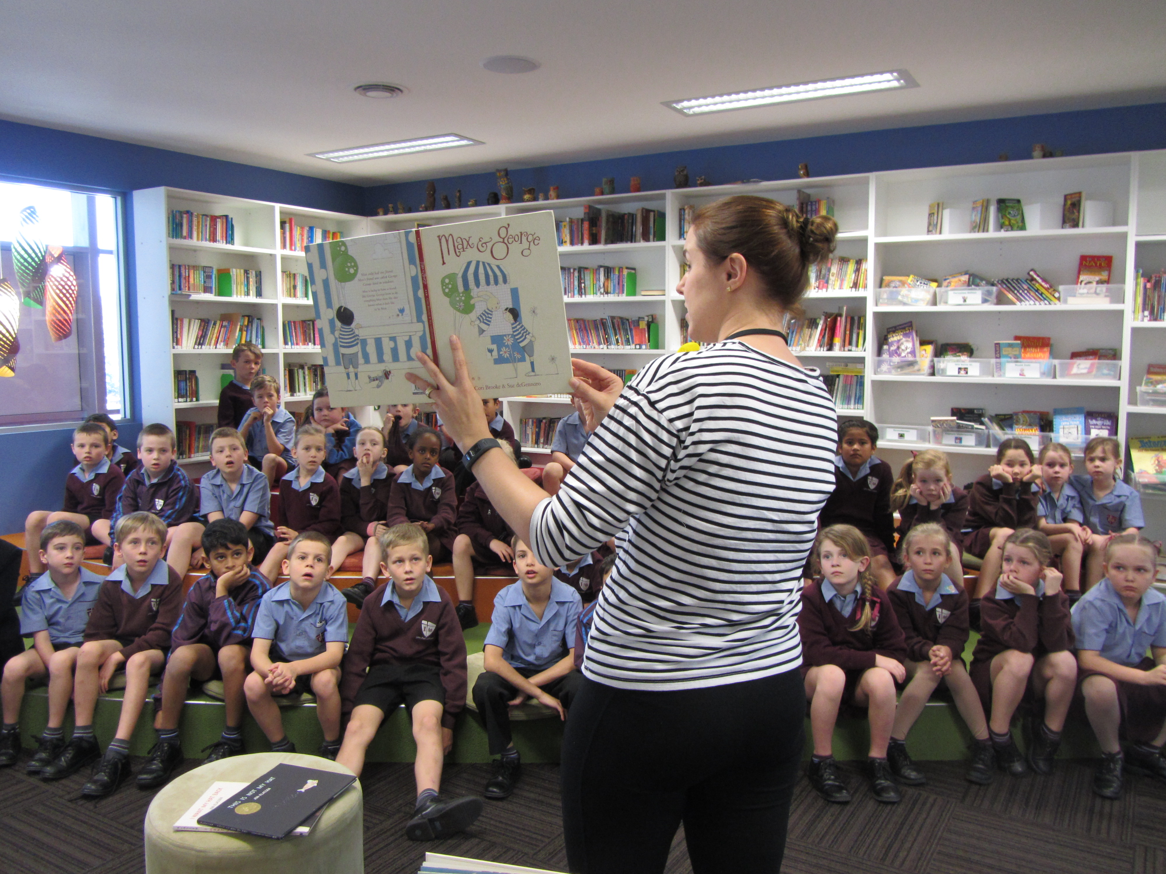 School Visit To John Paul College Daisy Hill For Book
